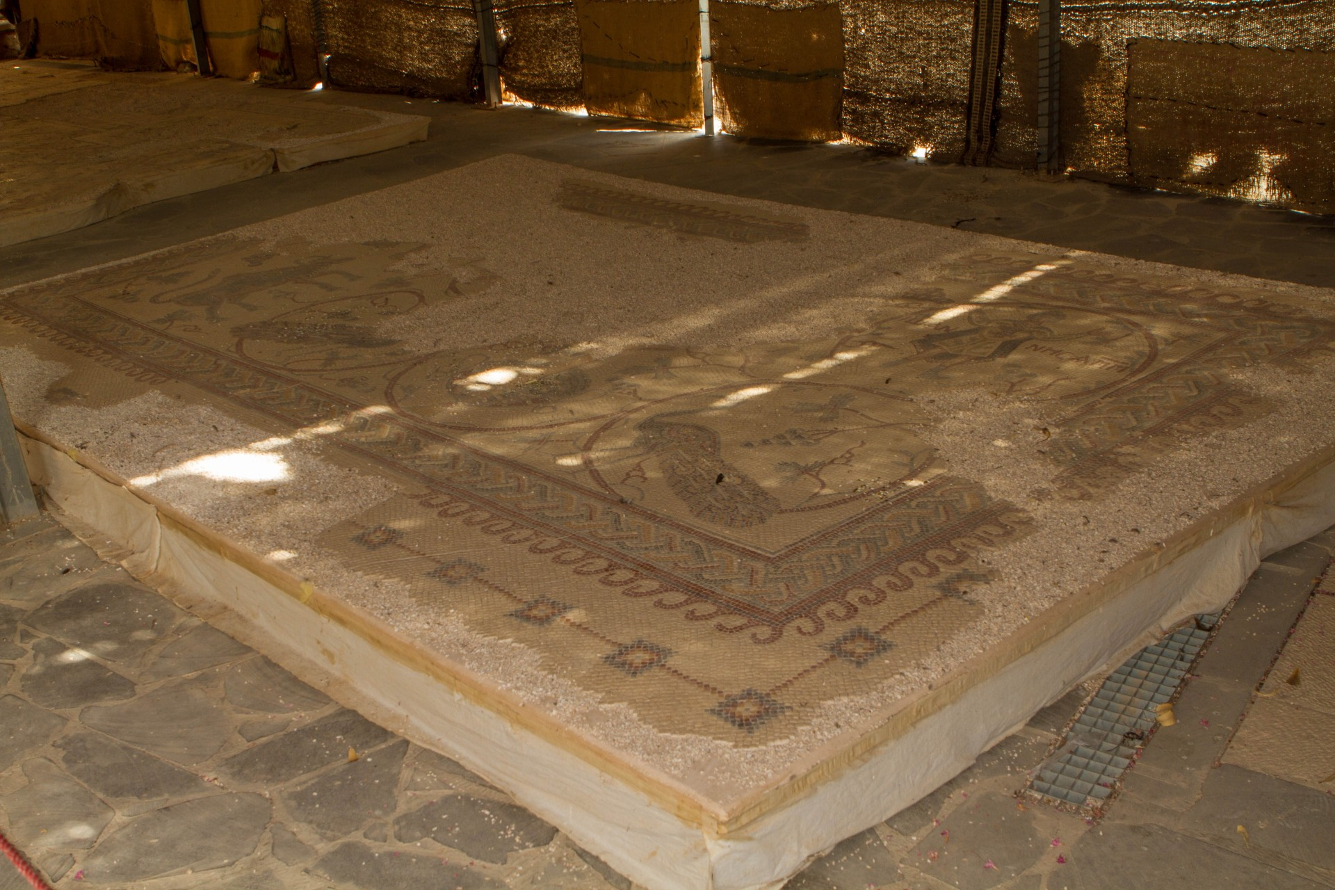 Ancient floor map of the holy land