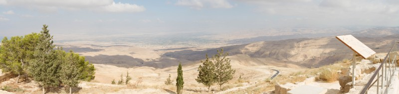 The promised land as viewed from Mt. Nebo