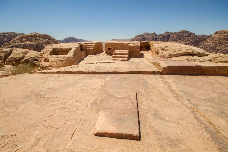 The High Place of Sacrifice in Petra, Jordan.