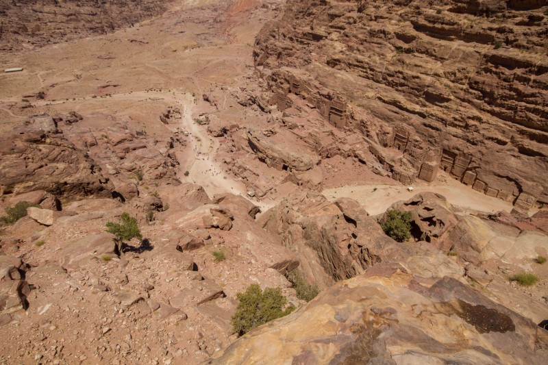 View down from the High Place of Sacrfice, Jordan.