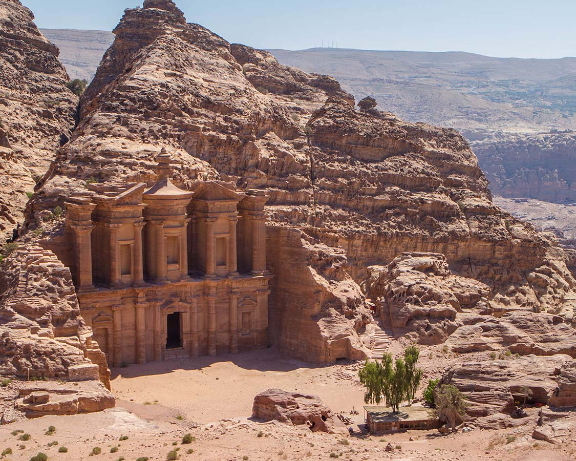 The Petra Monastery on a Jordan vacation