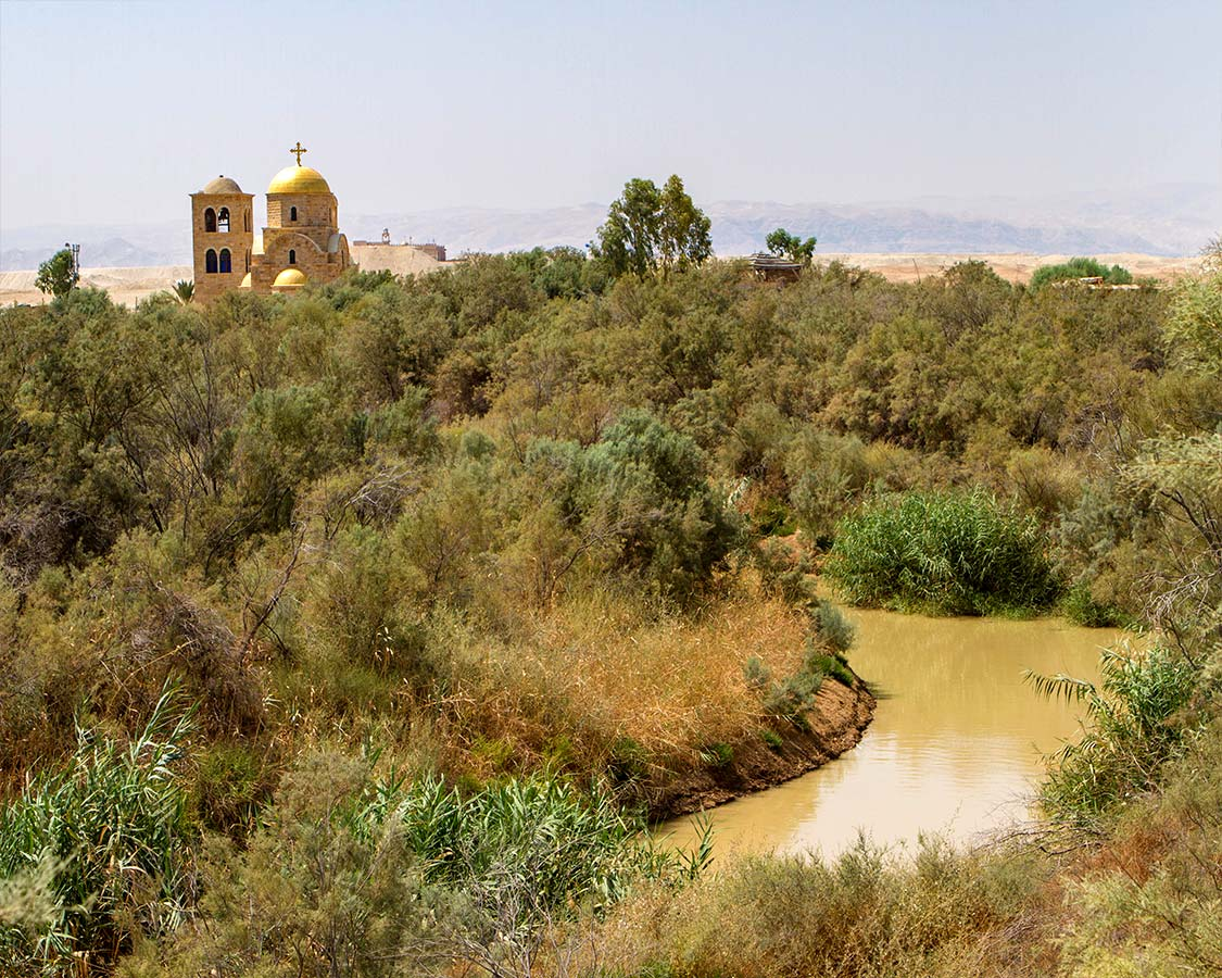Greek Orthodox Church near the Jordan River at Bethany Beyond the Jordan near the Dead Sea