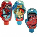 Cute packages of childrens hand sanitizer - Items to Keep Kids Healthy When Travelling