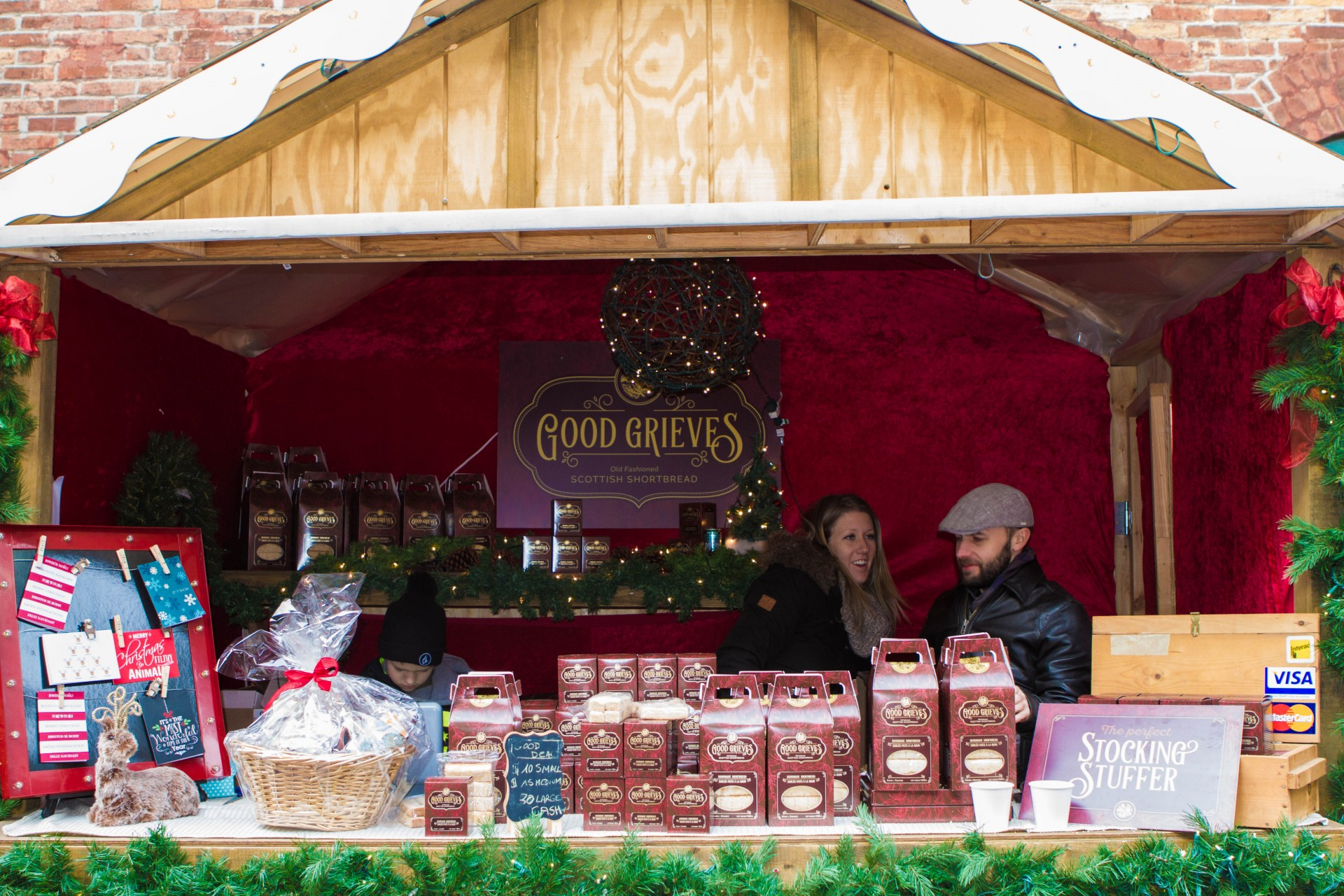A shortbread stall at the Toronto Christmas Market in the Distillery District Toronto