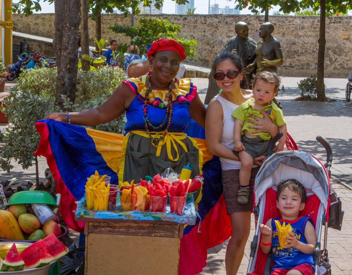 Cartagena - Eating Fruit
