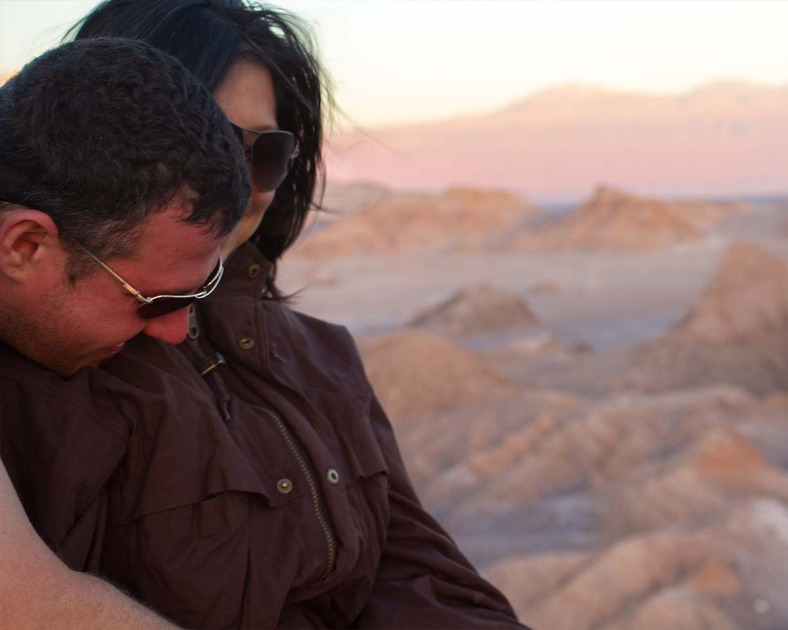 Watching the Atacama Sunset in the Valley de la Luna Chile