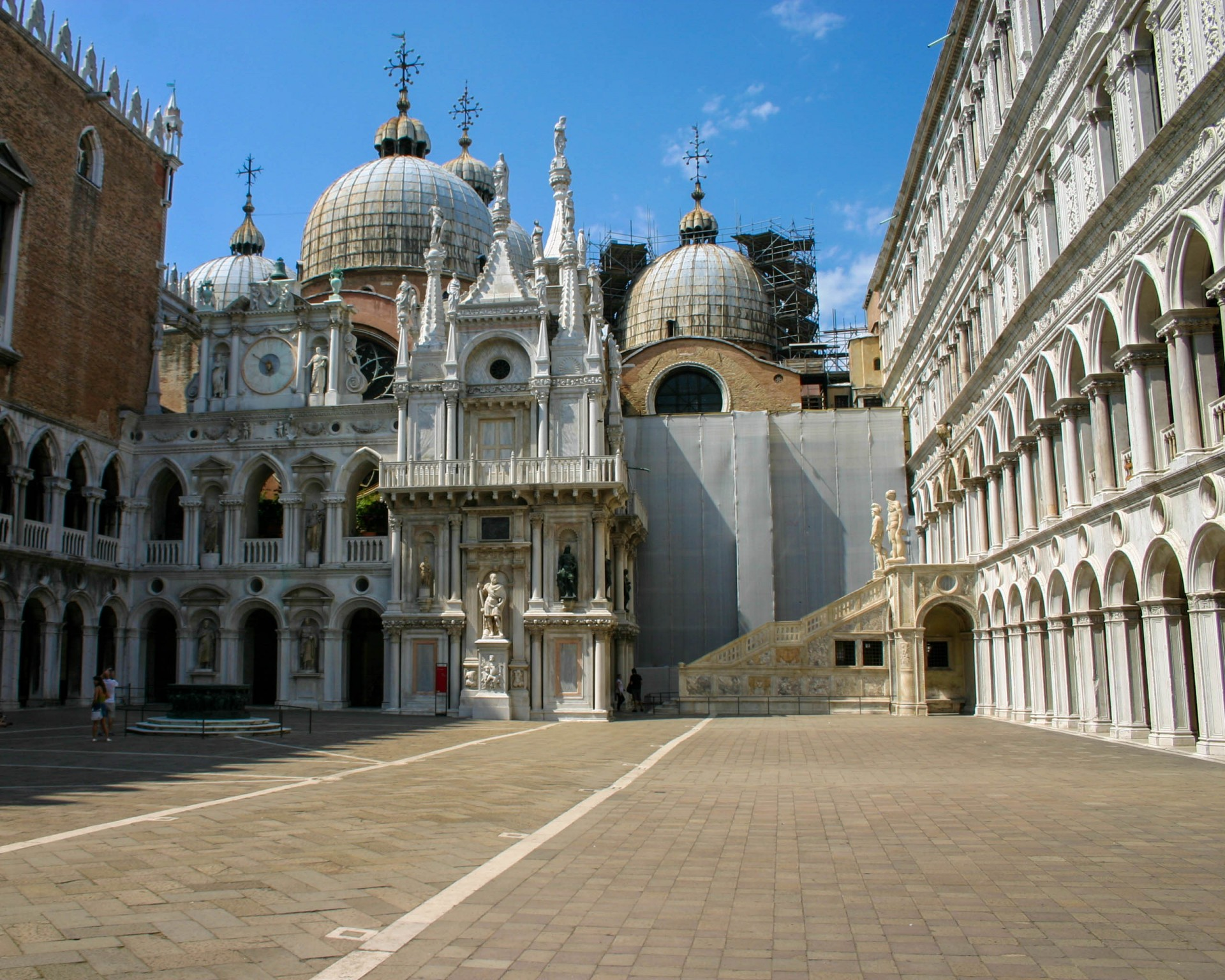 An empty square looks onto St. Marks Cathedral in Venice, Italy - Lost in Venice