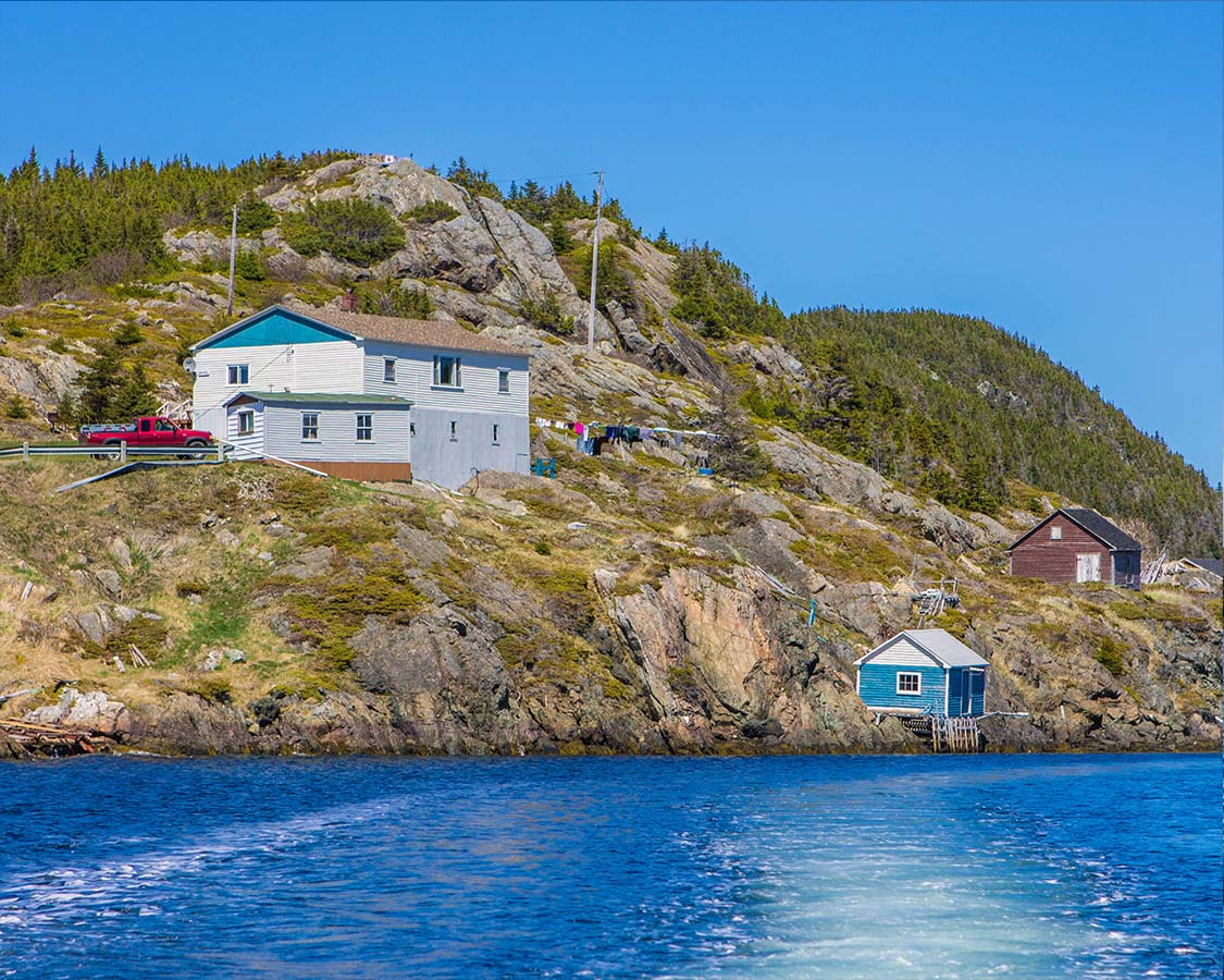 A small Newfoundland Tickle fishing village near Twillingate
