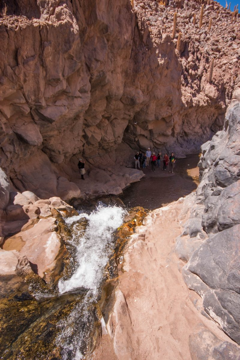 View from the top of the waterfall in Cactus Valley