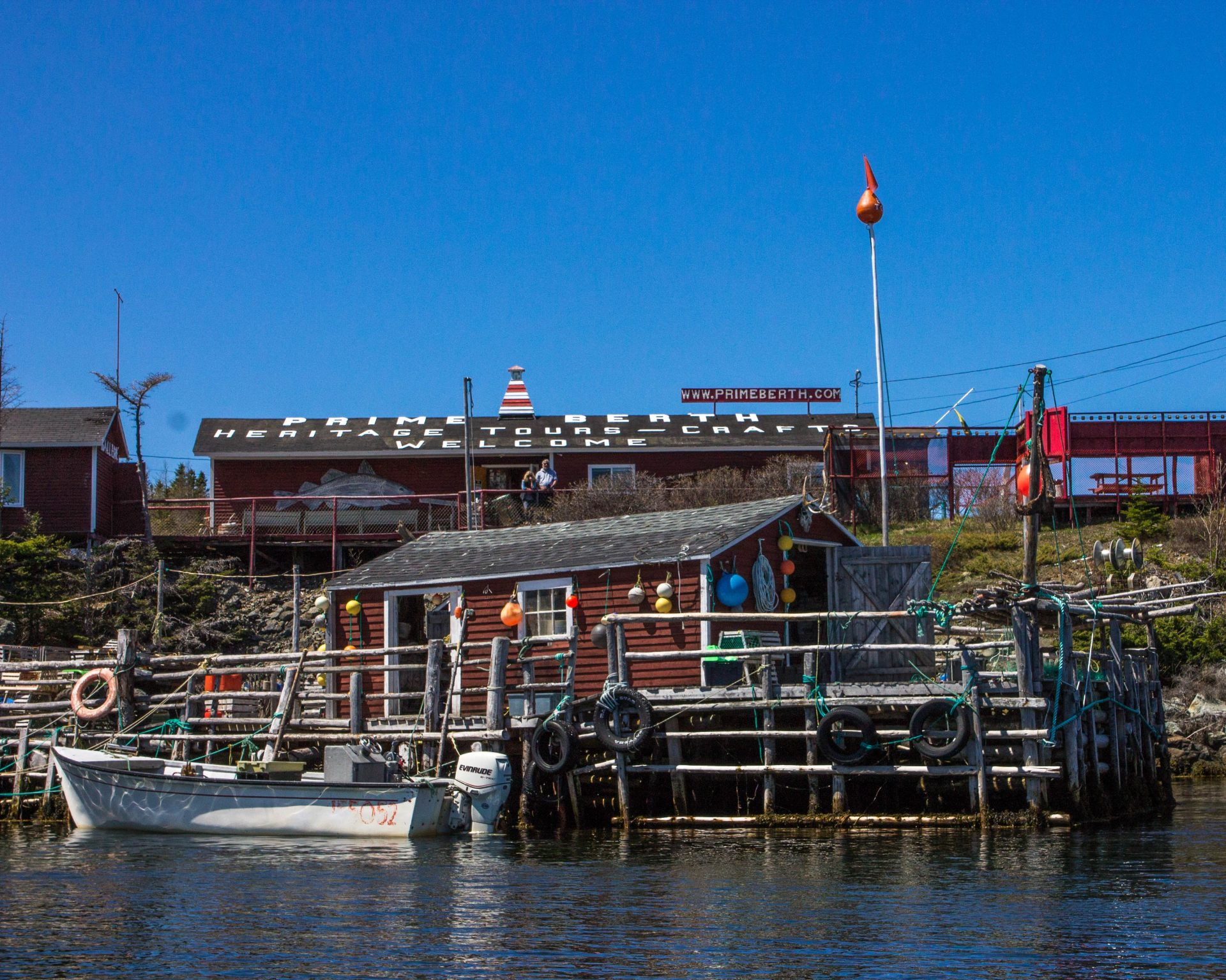 A quaint fishing museum sits on the water in Newfoundland - Icebergs in Twillingate