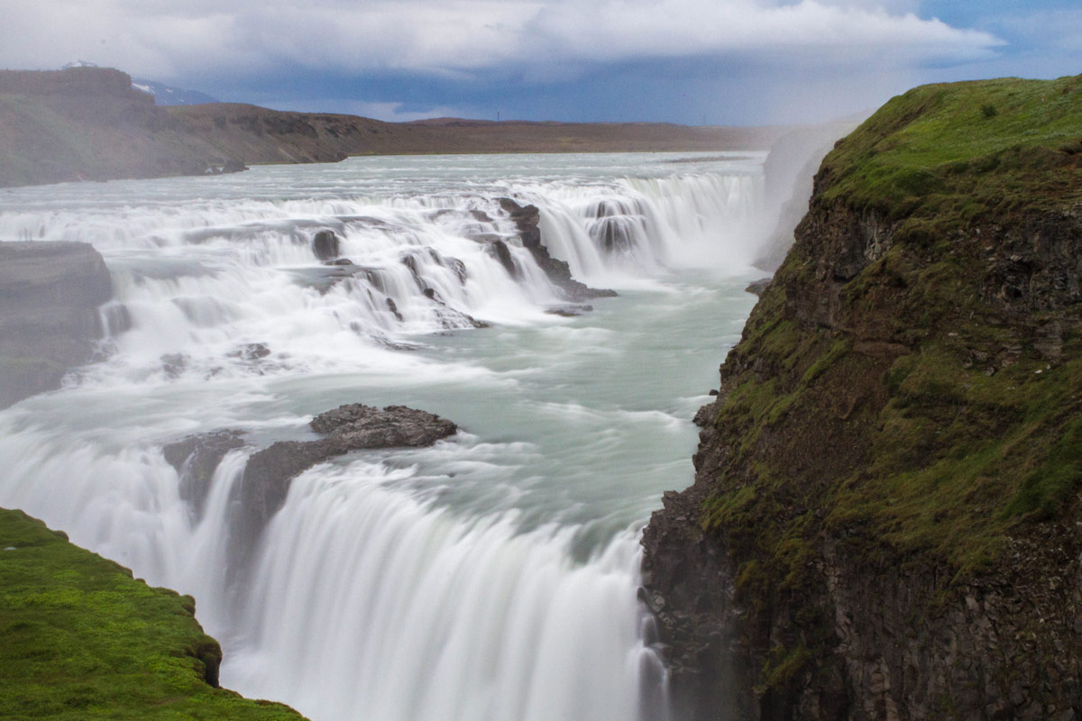 The Gulfoss waterfall on Iceland's Golden Circle Tour with kids