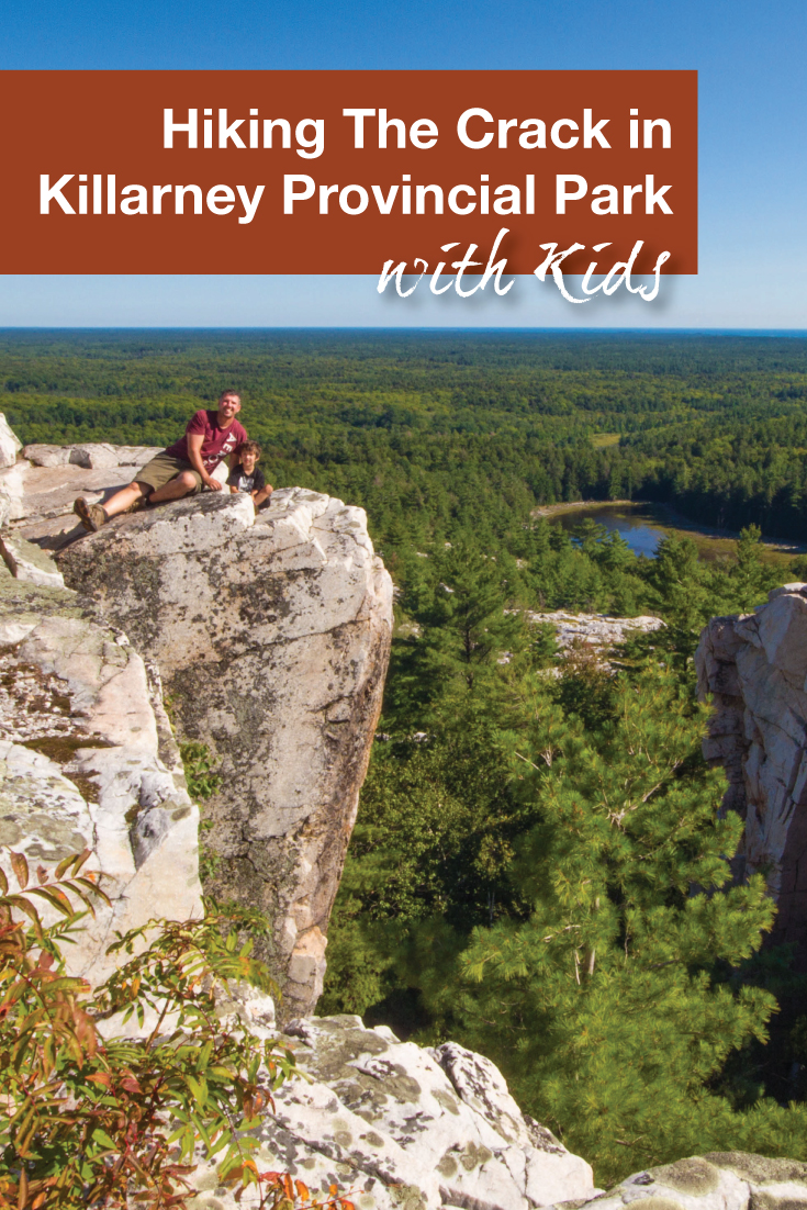Hiking the Crack in Killarney with Kids - Pinterest