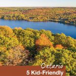 Fall colours over Muskoka viewed from the Dorsett Lookout Tower - 5 kid friendly activities in Ontario - Pinterest