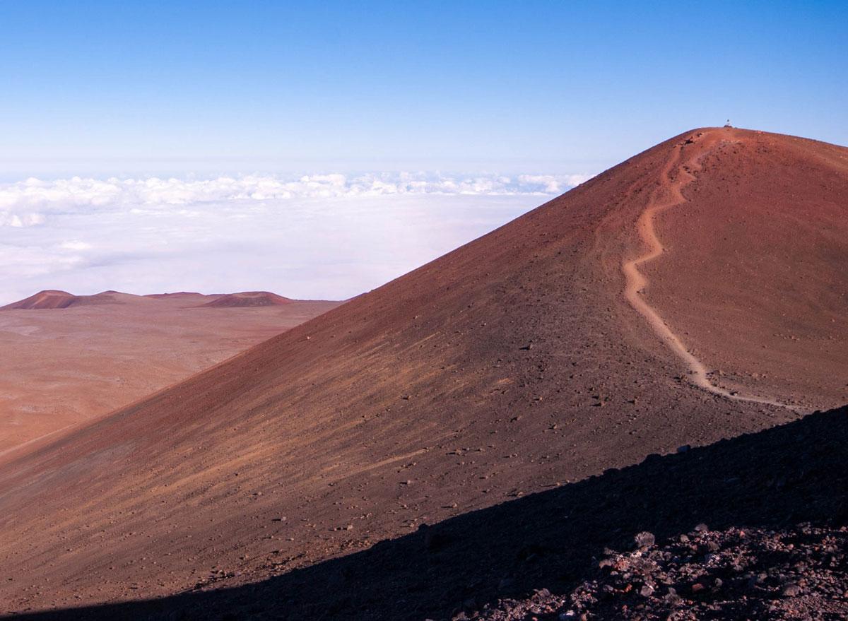 Trail used to by hikers to smmit Mauna Kea on Big Island Hawaii