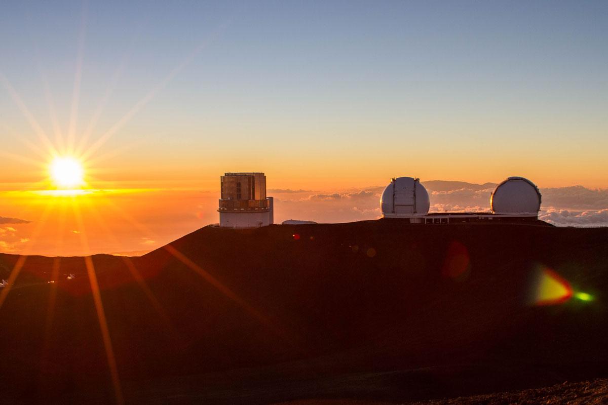 Sunset at the Mauna Kea summit
