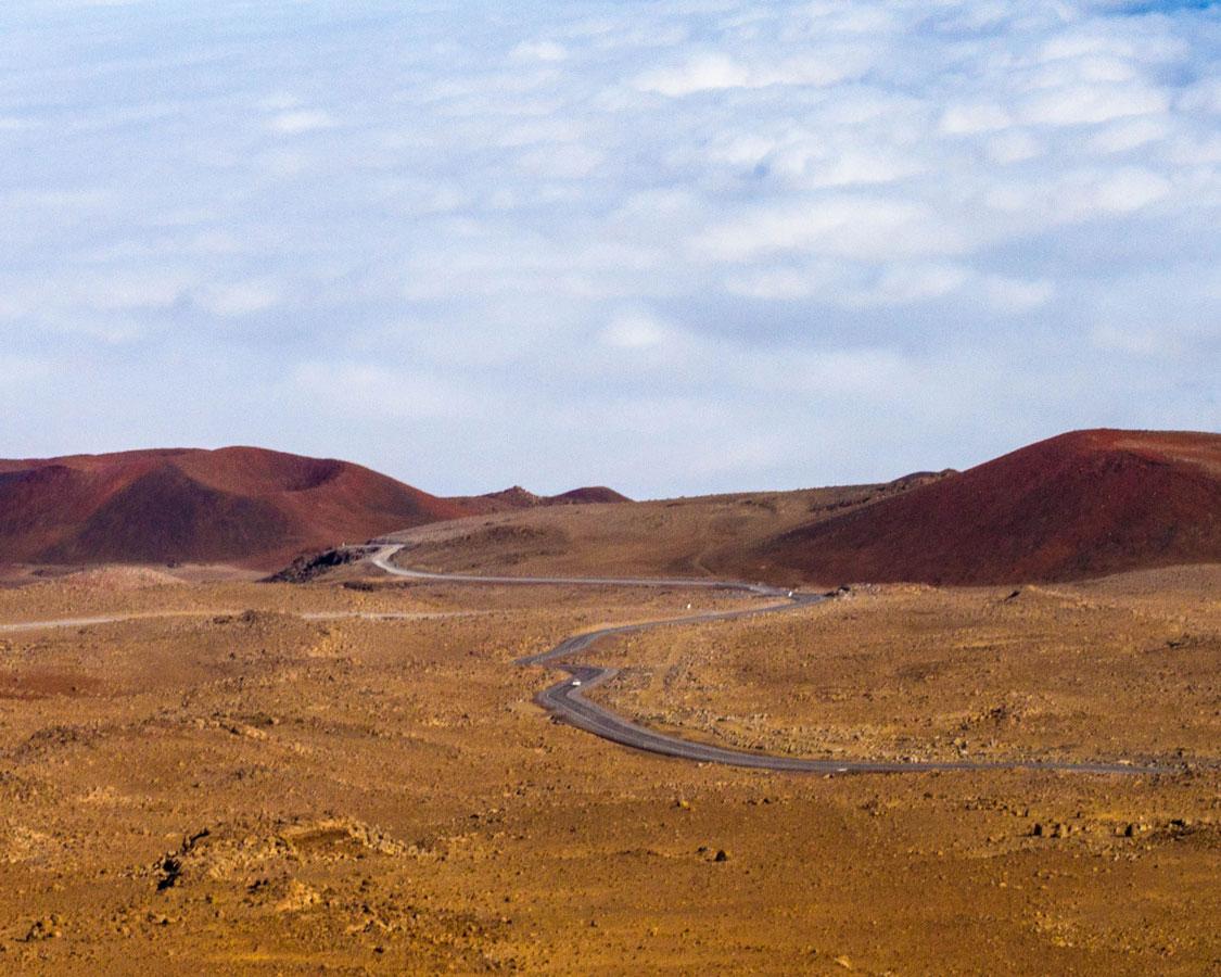 Road to summit Mauna Kea