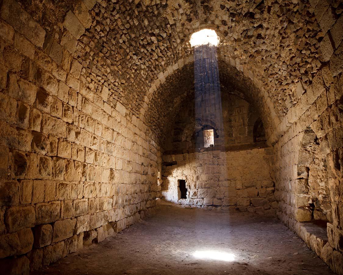 Castles in Jordan Karak Castle tunnel