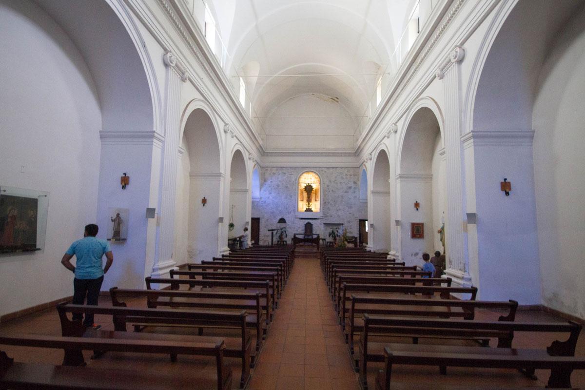 Inside Iglesia Matriz in Colonia del Sacramento, Uruguay.