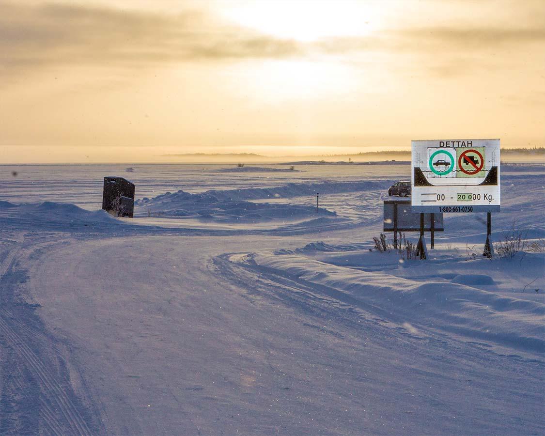 Yellowknife activities Dettah Ice Road