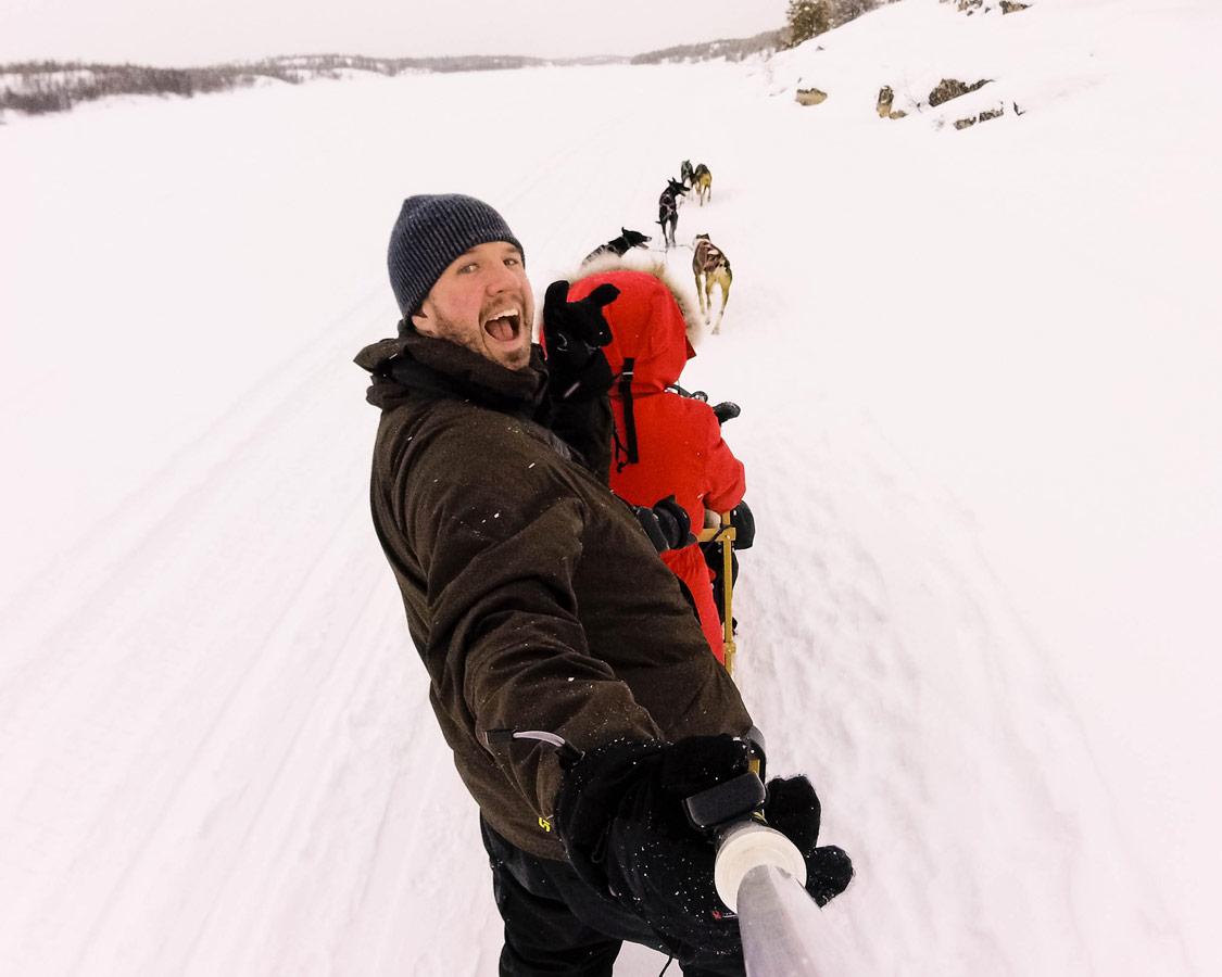 Dog sledding with kids in Yellowknife, Northwest Territories