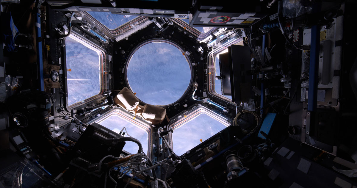 View of earth from the Mir Space Station at the planetarium in the Ontario Science Centre