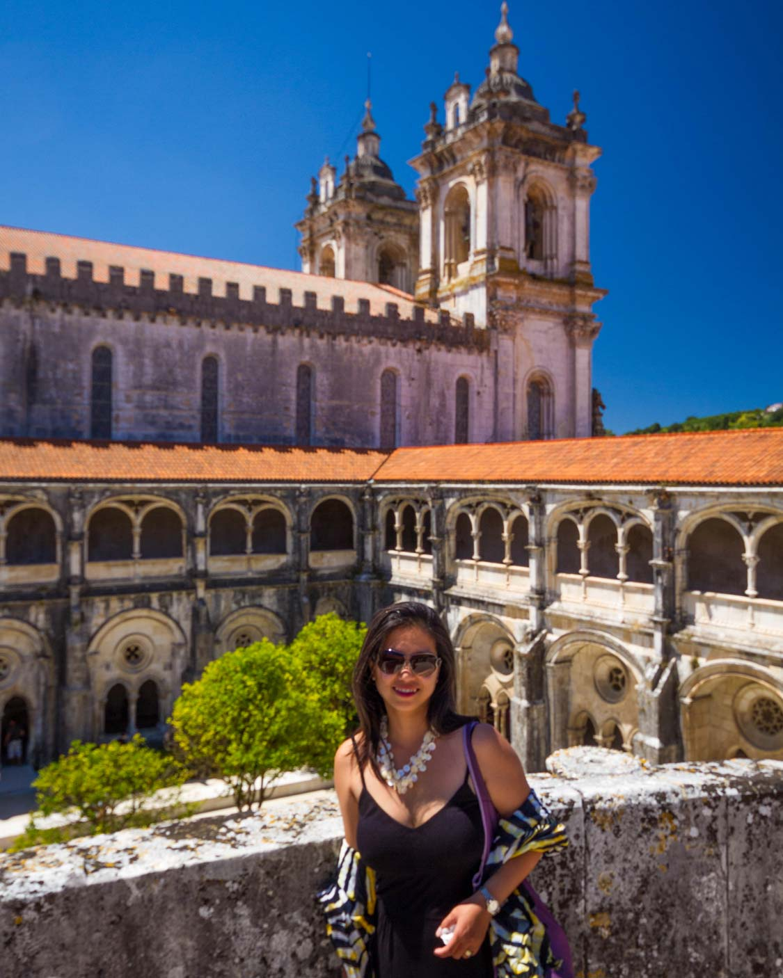 Alcobaca Monastery Cloister of Silence in Alcobaca Portugal