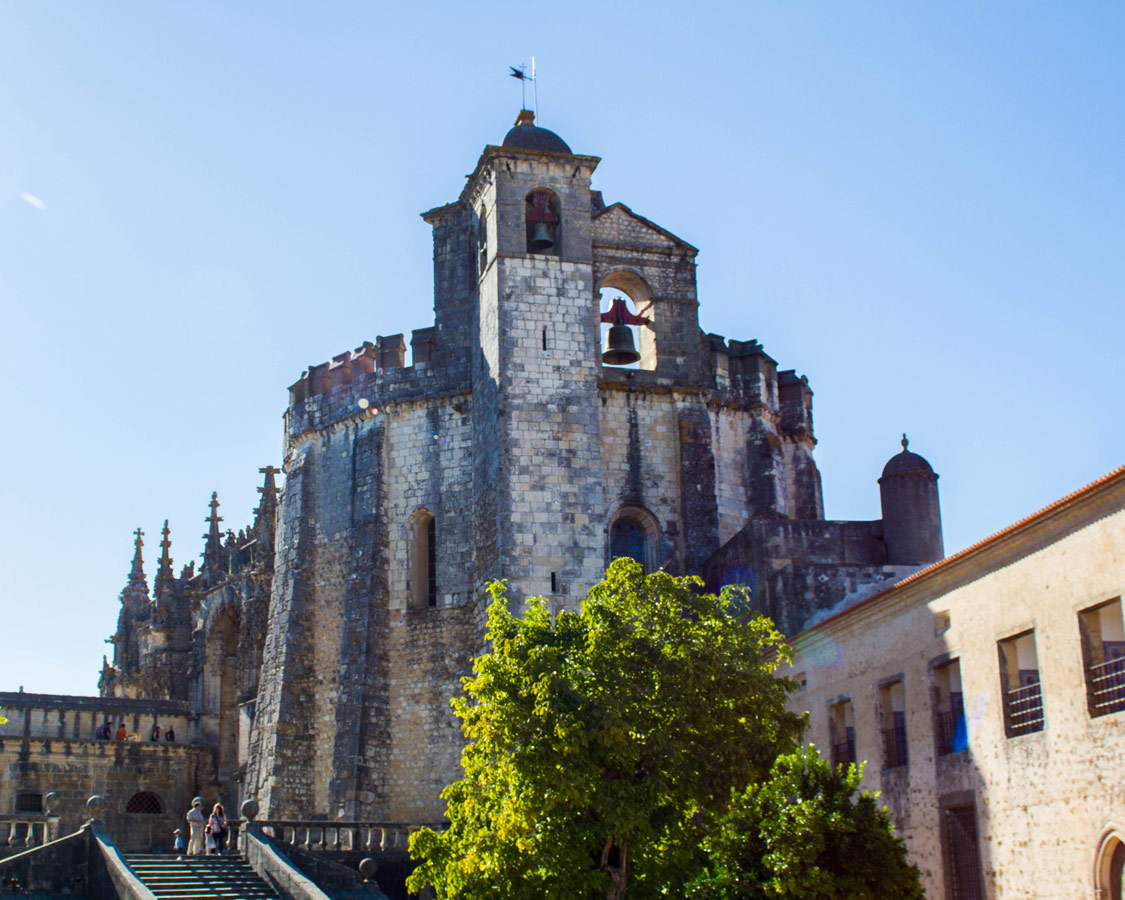 Exterior of the Templar Church in the Convent of Christ, in Tomar, Portugal.