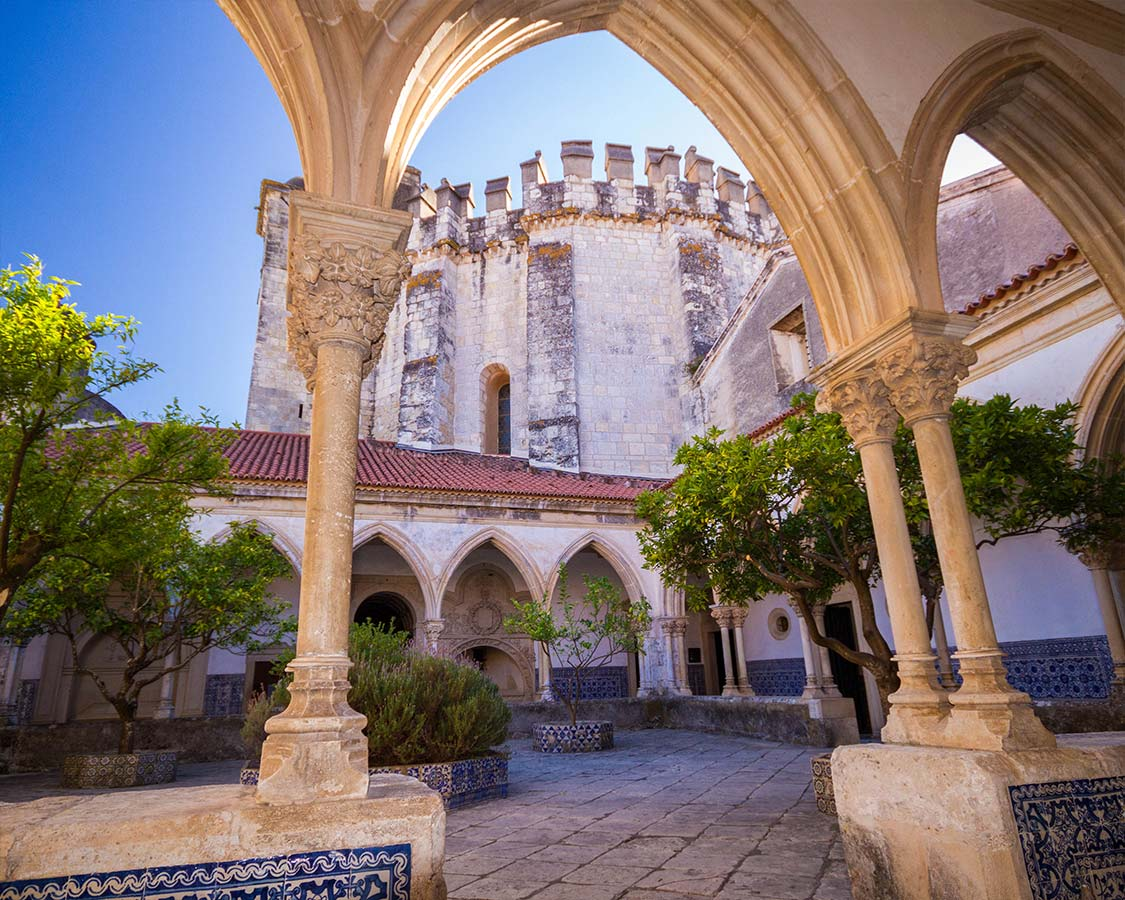 Great Cloister of the Tomar Monasteryand-Knights-Templar-Castle