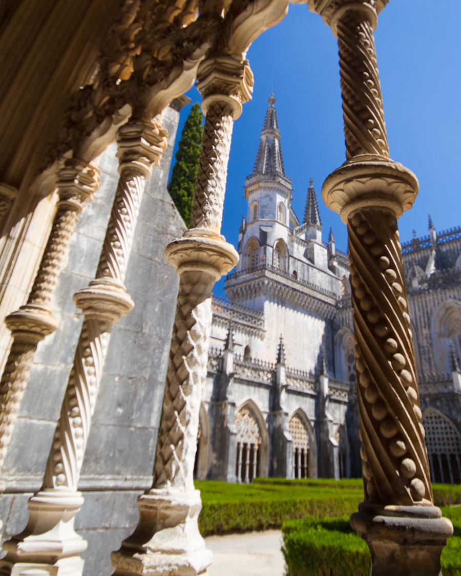 Incredible detailing at the Royal Cloisters. in Batalha Monastery Portugal.