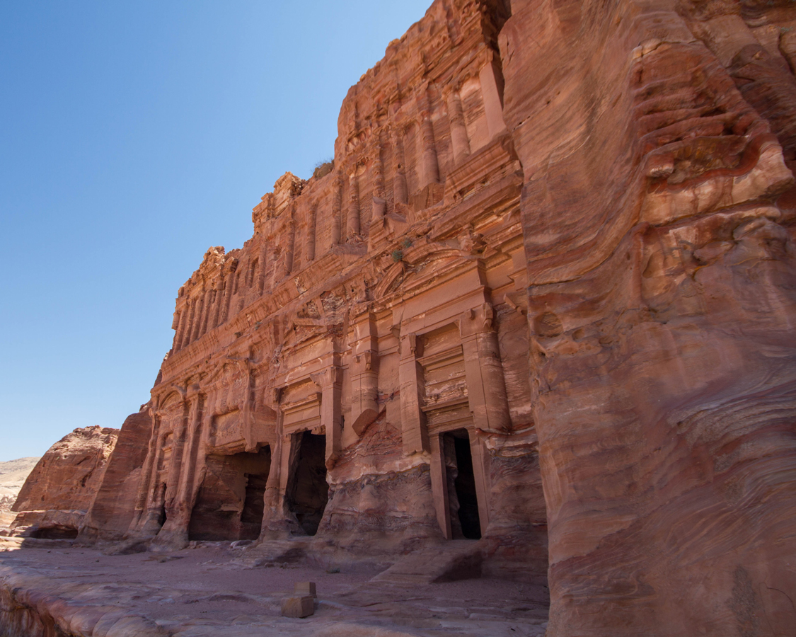 The Royal Tombs made the list of what to see in Petra with kids