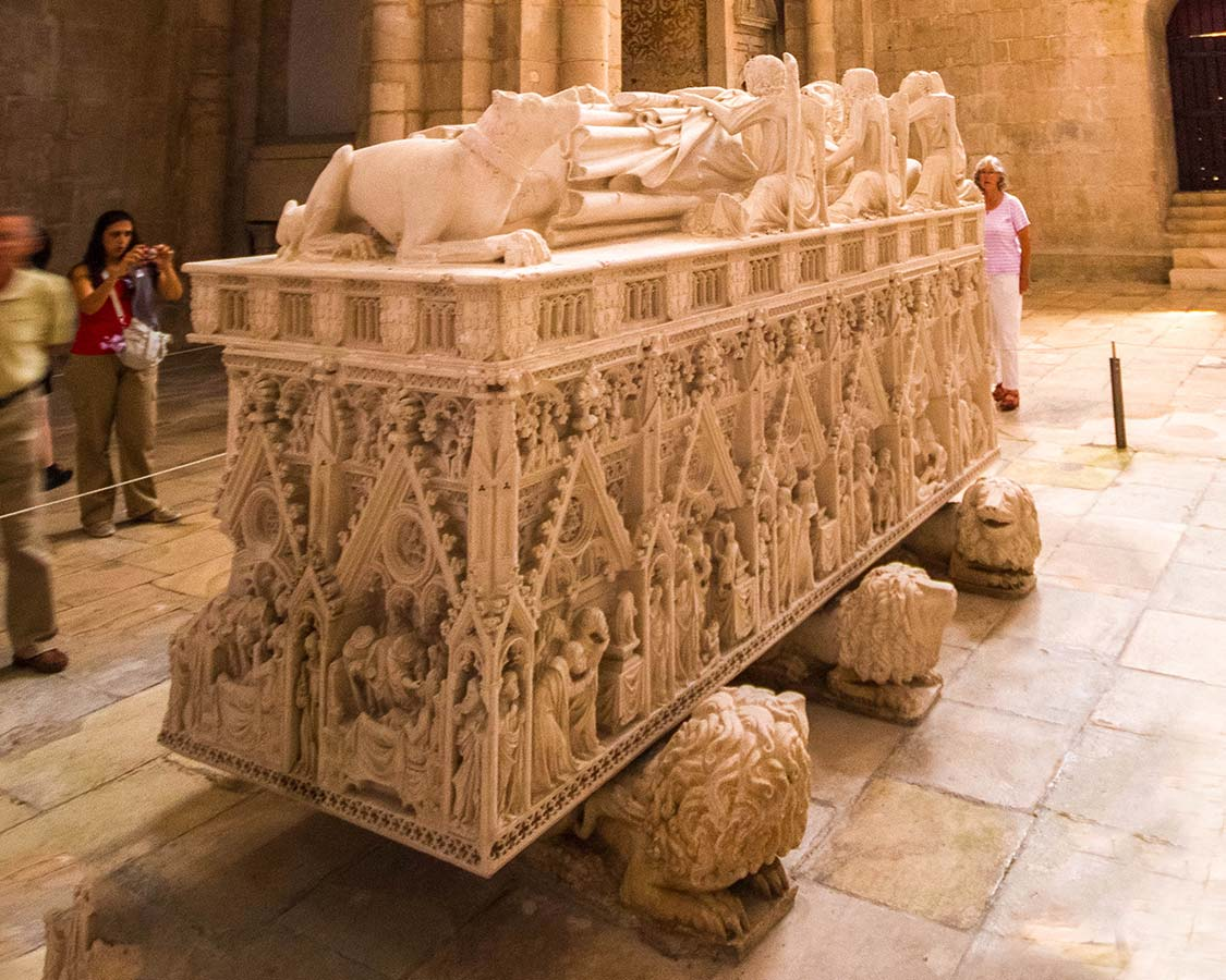 Tomb of Dom Pedro Alcobaca Monastery Portugal