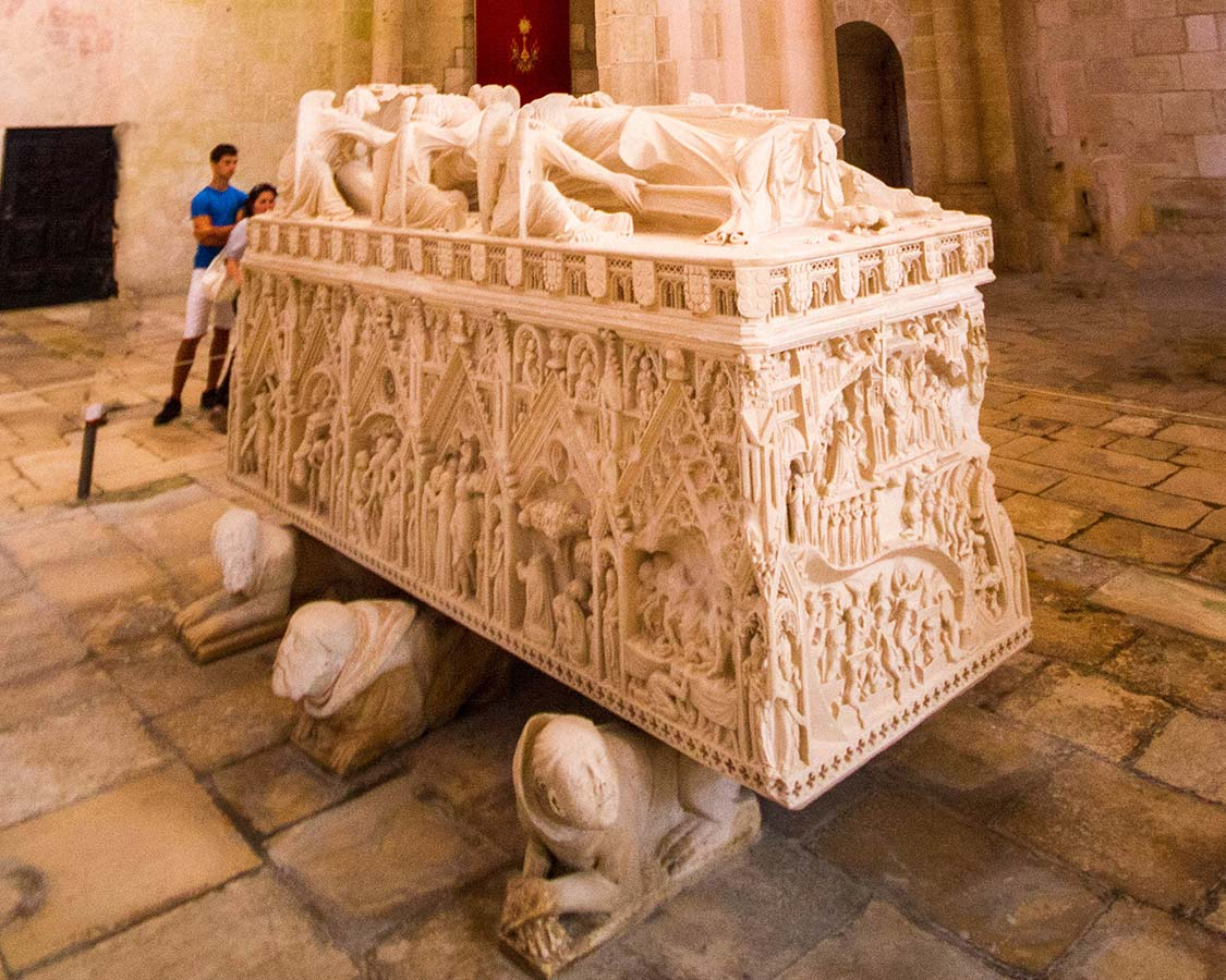 Tomb of Dona Ines Alcobaca Monastery Portugal