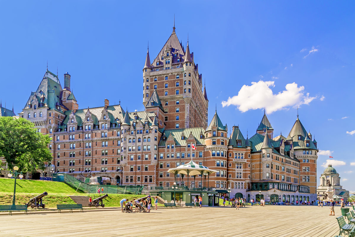 Chateau Frontenac in Quebec City is one of the most amazing places in Canada