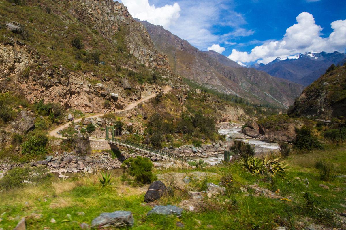 Start of the 4-day Inca Trail hike to Machu Picchu.