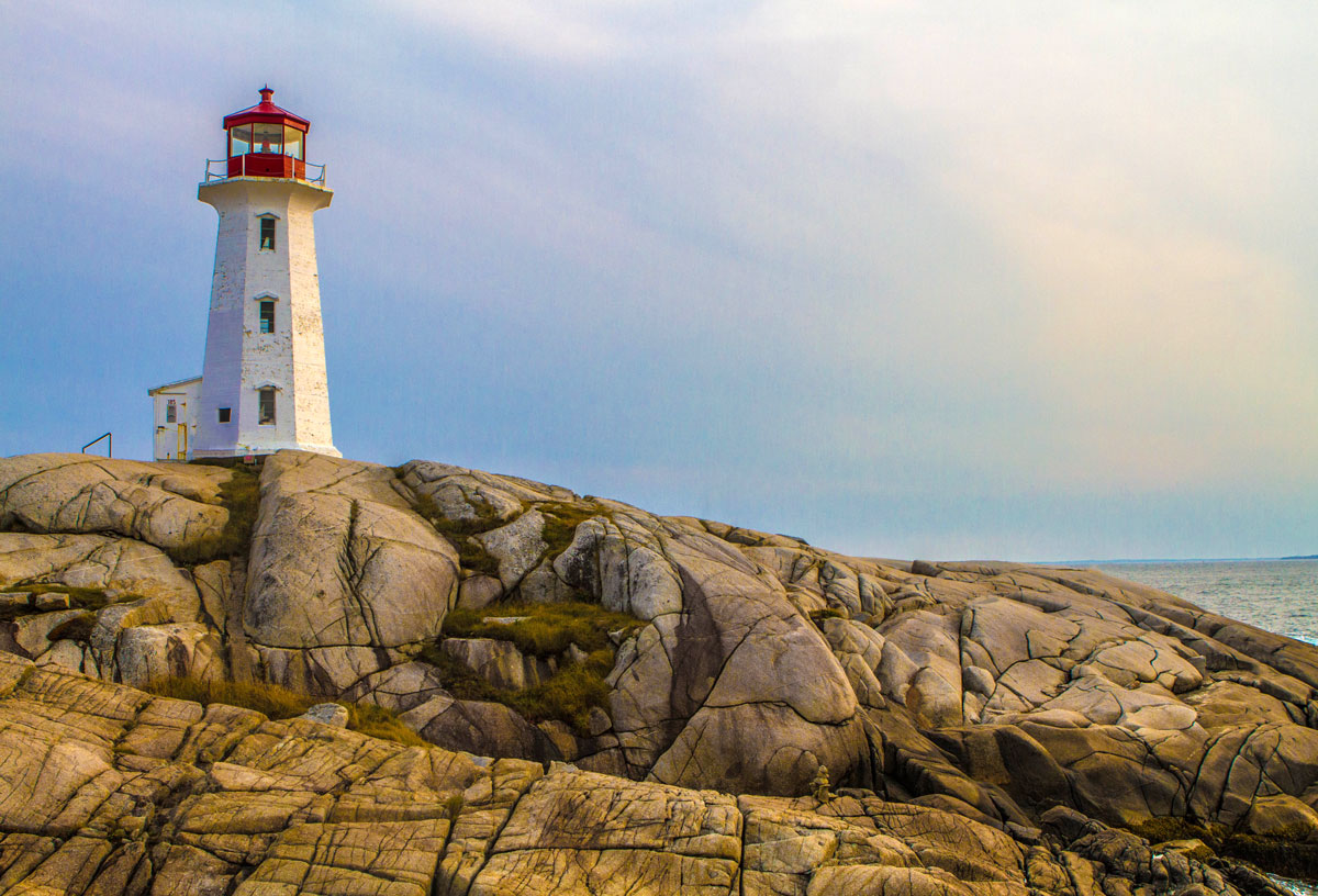 Peggys Cove Lighthouse in Nova Scotia is one of the most amazing places in Canada