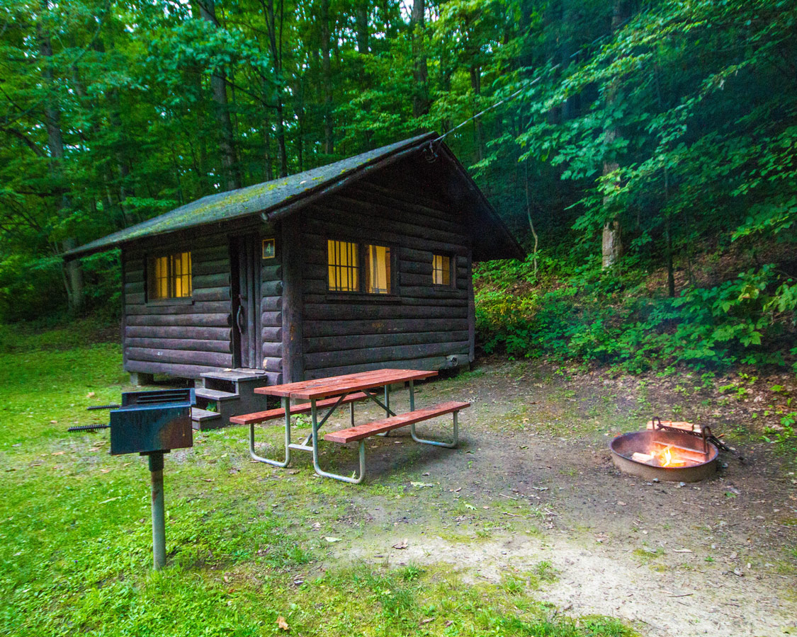 Cabin E at Letchworth State Park in New York State