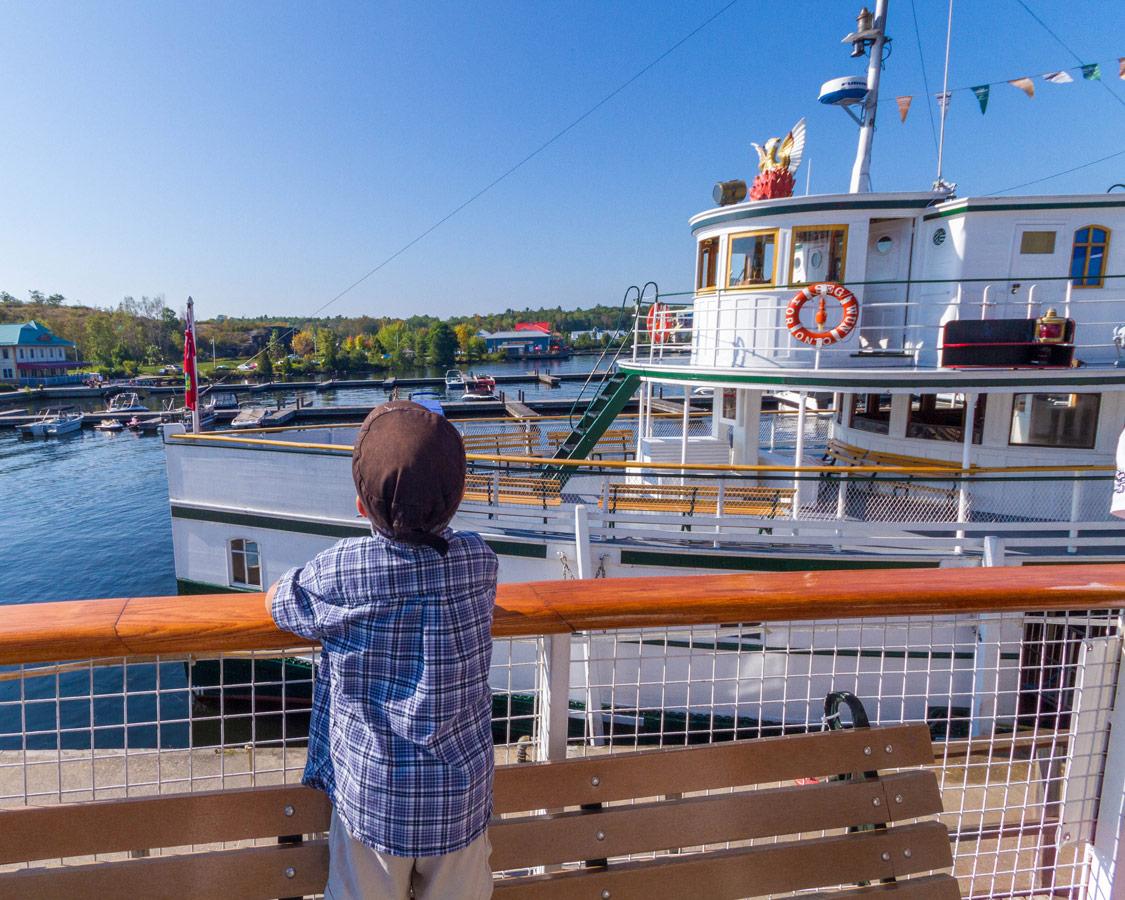 D checks out the RMS Segwun of the Lake Muskoka Steamships in Gravenhurst Ontario