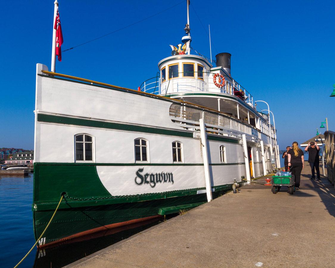 RMS Segwun Steamship on Lake Muskoka in Gravenhurst Ontario