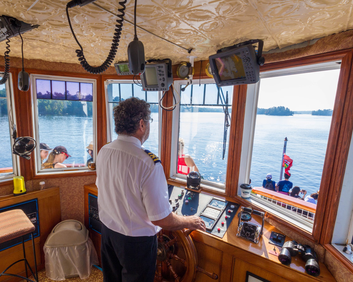The Captain of the Wenona II Lake Muskoka Steamship