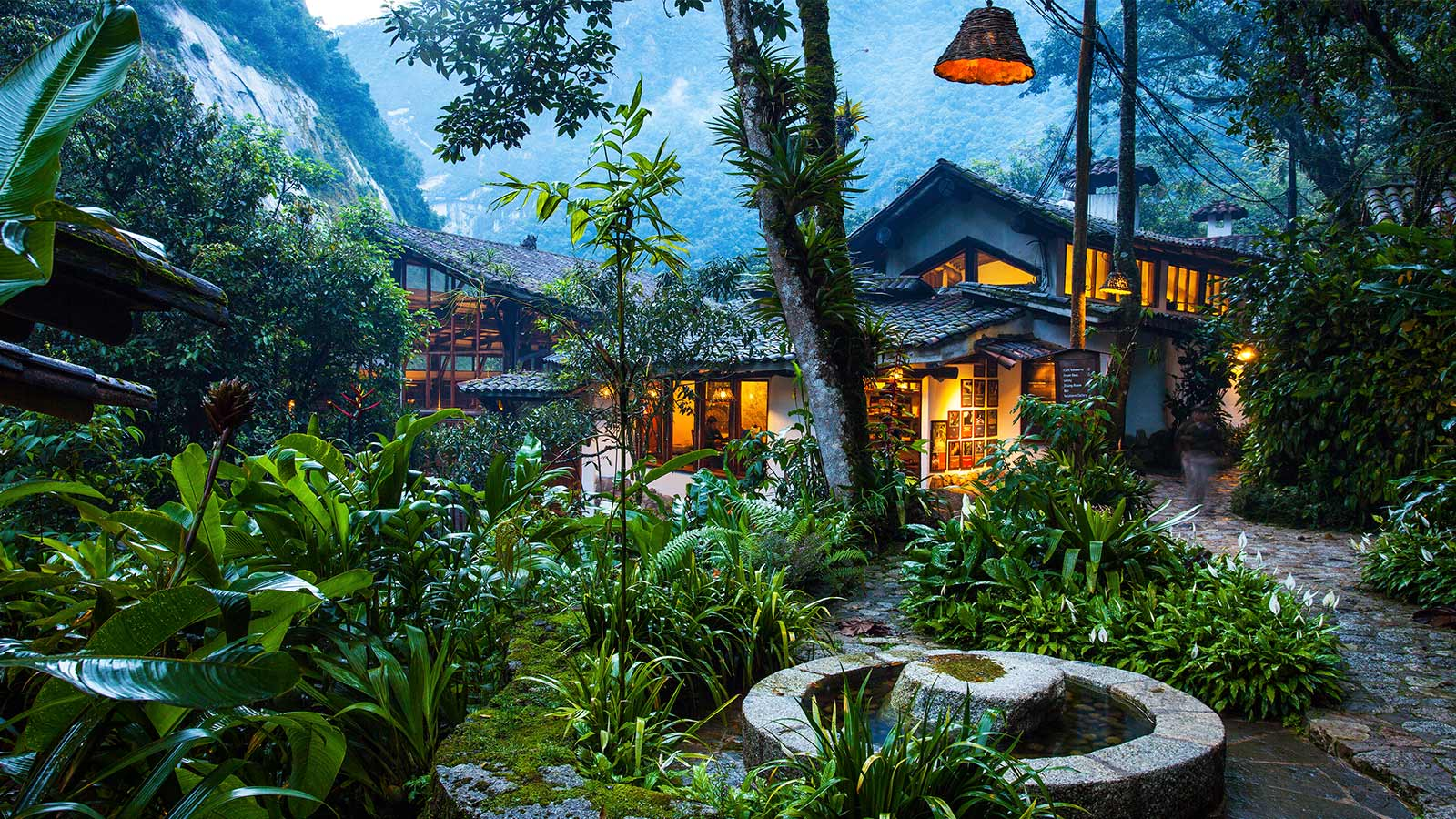 Gardens of the InkaTerra Machu Picchu Pueblo hotel in Peru