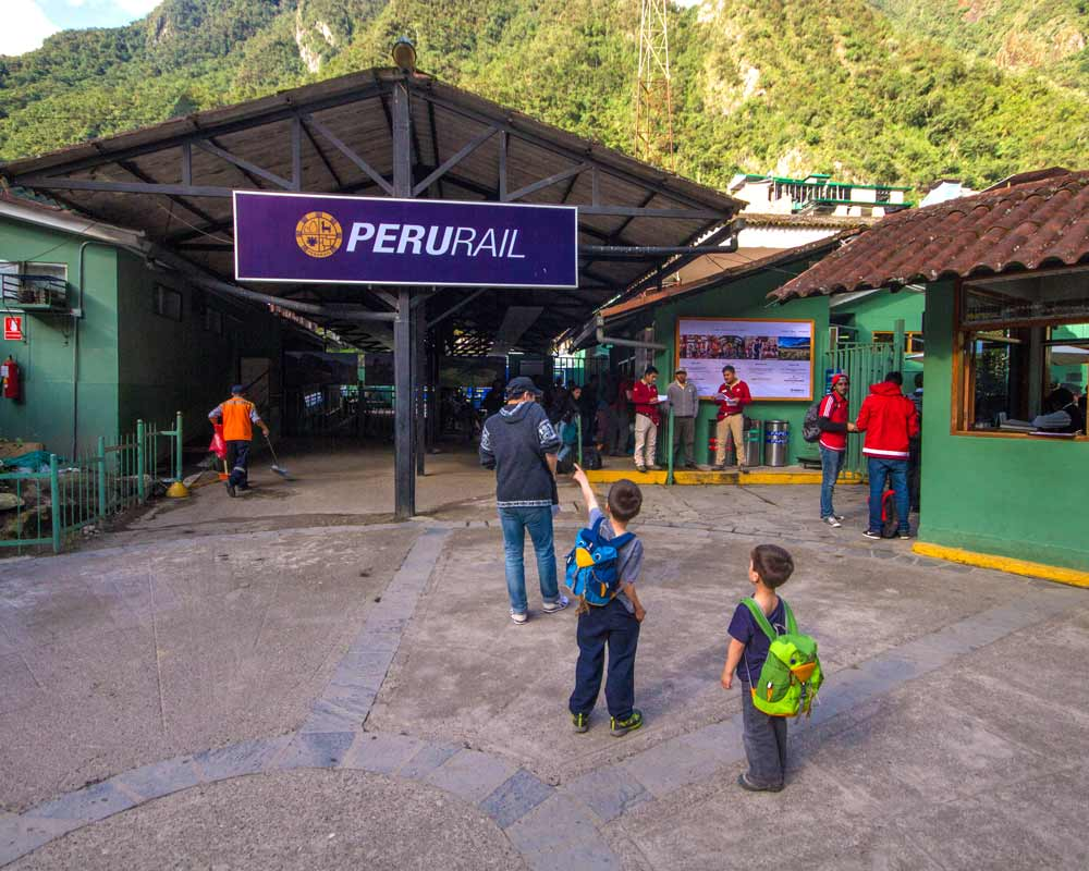 Peru Rail Station in Machu Picchu Pueblo Peru