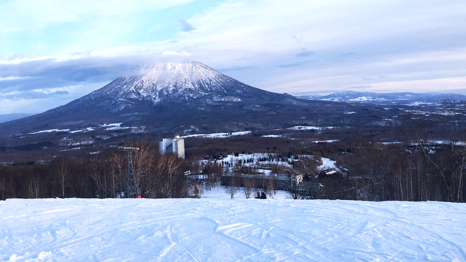 Mountain views and ski hills on a Japan ski holiday
