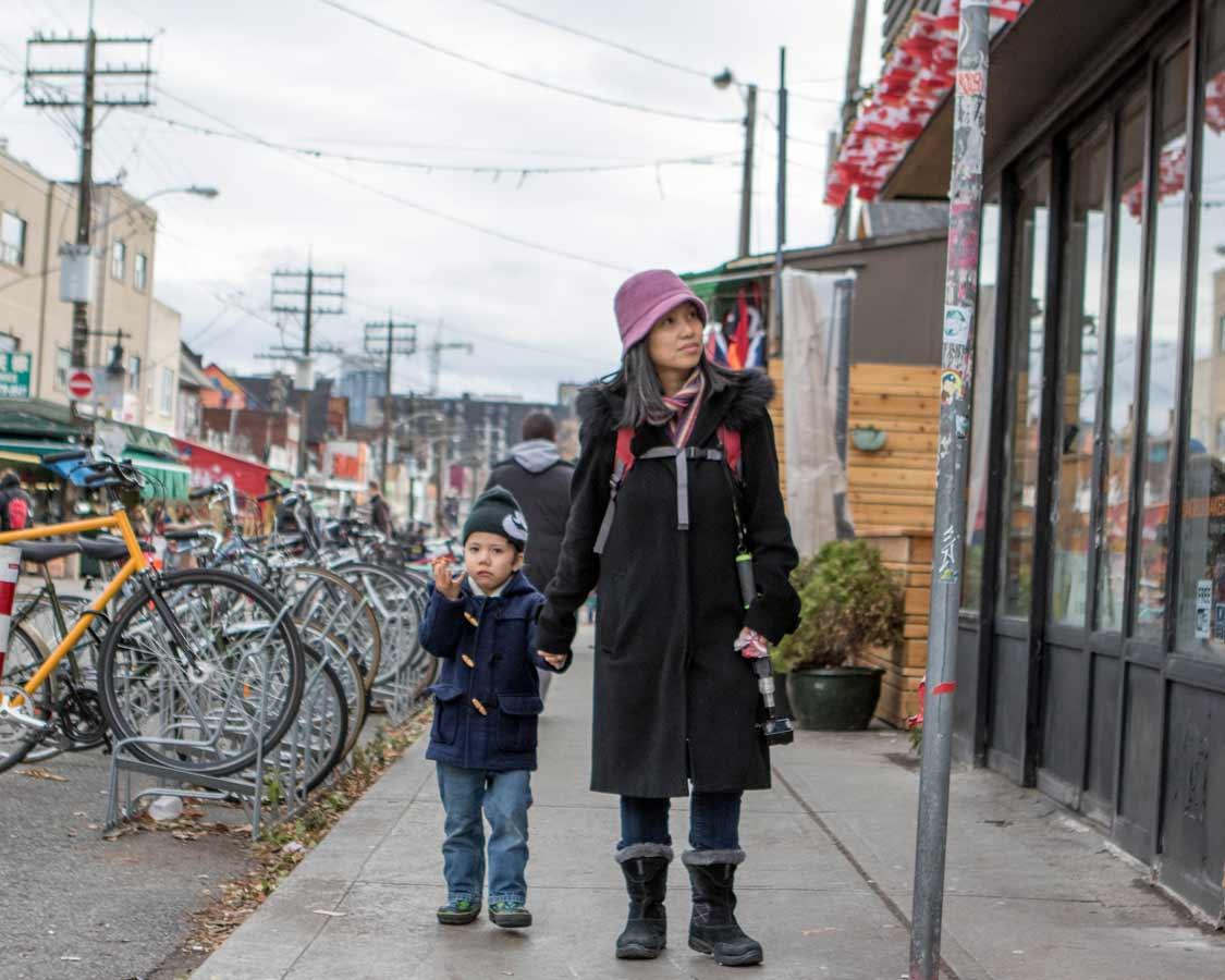 Walking through Kensington Market on a Toronto Food Tour