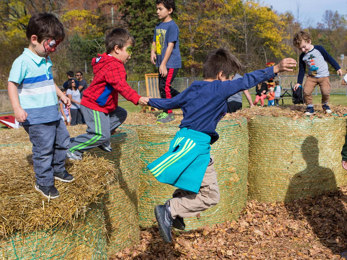 Children play at the Terra Cotta Fall Festival in Ontario