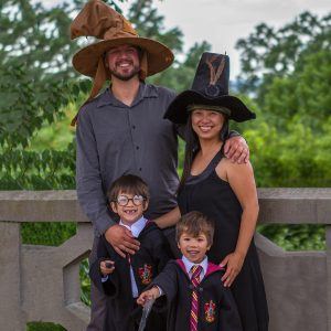 Wandering Wagars in their Harry Potter costumes