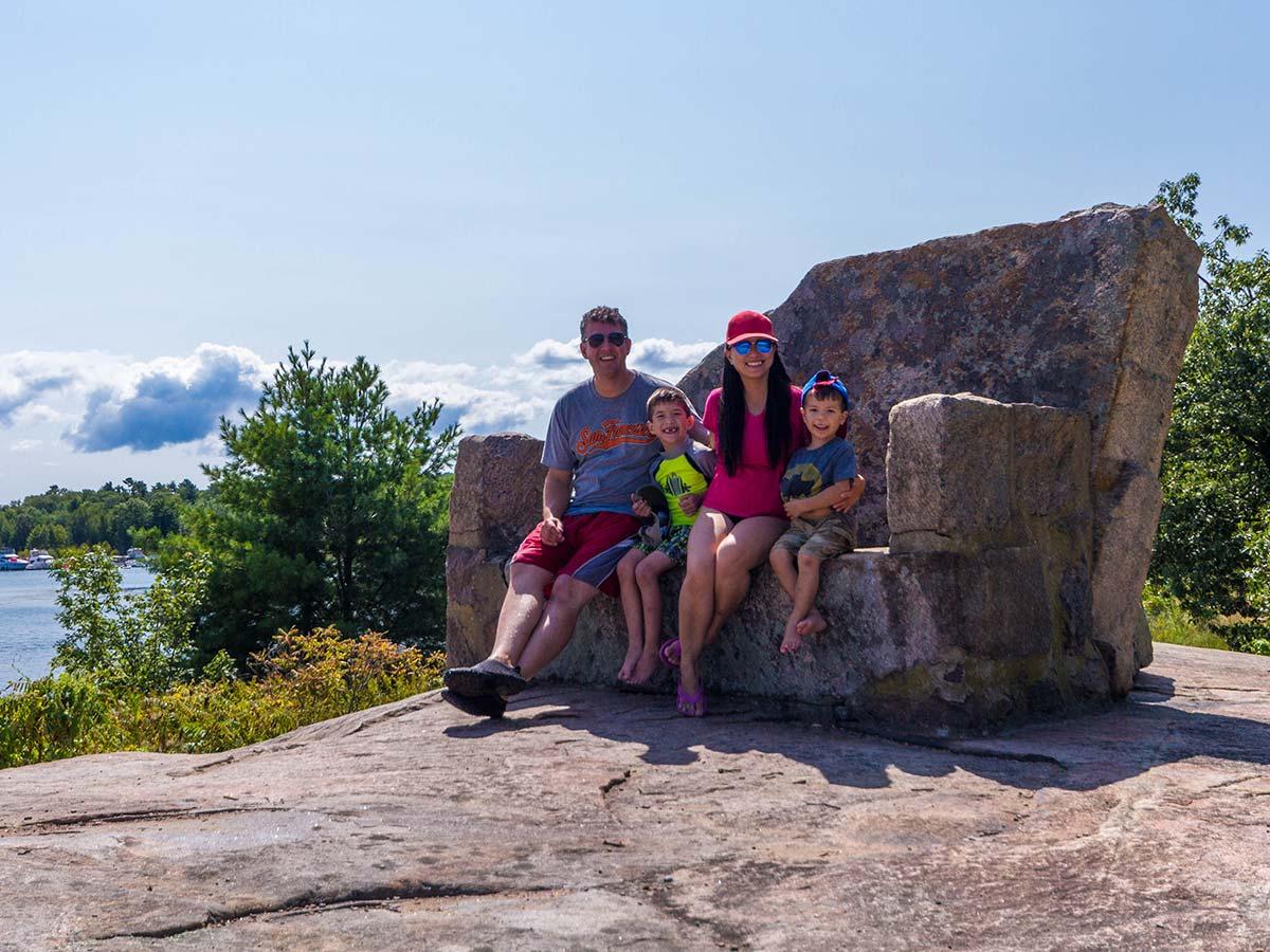Stone Chair in Georgian Bay Islands National Park in Ontario