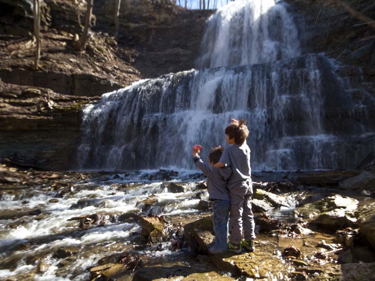 Waterfalls in Hamilton Ontario