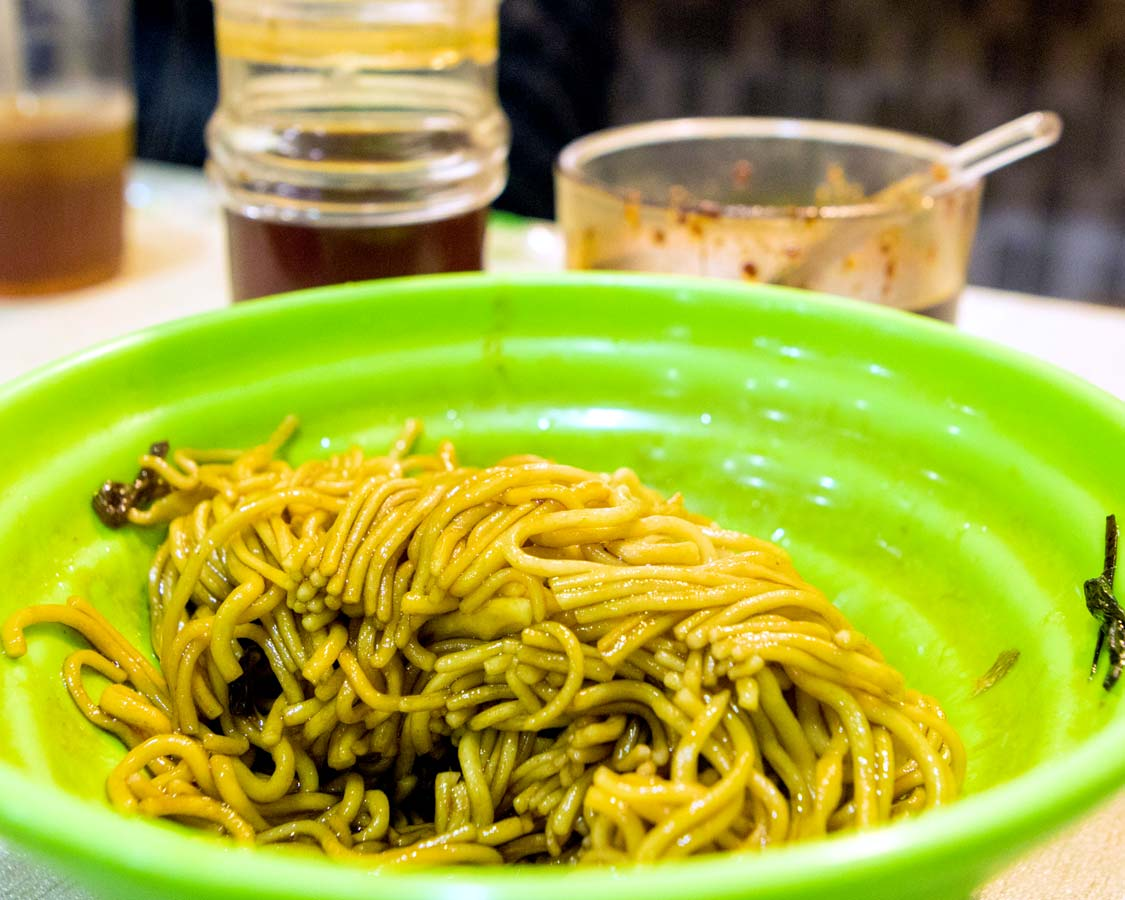 Freshly made Henan Pulled Noodles on a Shanghai food tour