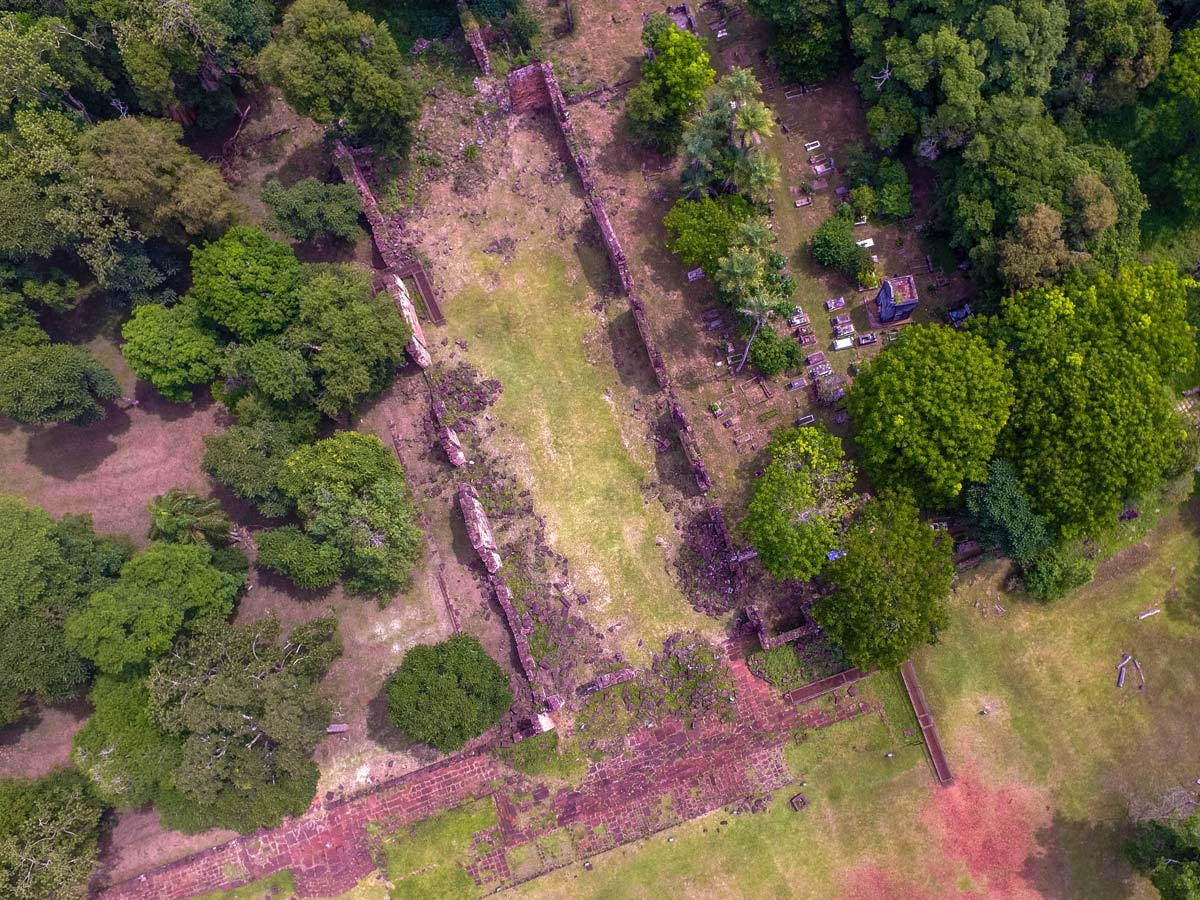 Drone photography of the Santa Ana Jesuit Ruins in Misiones Argentina