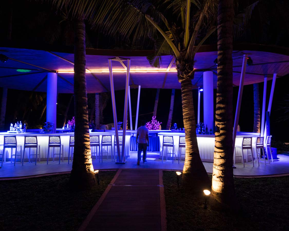 Outdoor bar at the Movenpick Boracay hotel in the Philippines